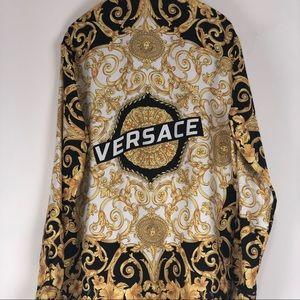 Men's Versace silk shirt.